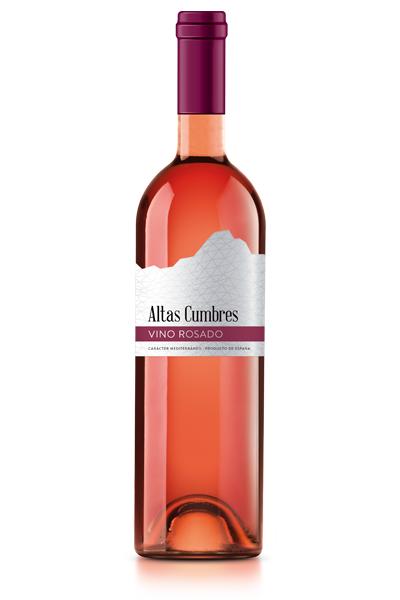 Vino rosado Altas Cumbres. Bodegas Isidro Milagro.