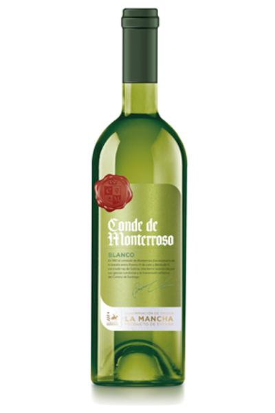 Vino verdejo Conde de Monterroso. D.O. La Mancha. Bodegas Isidro Milagro.